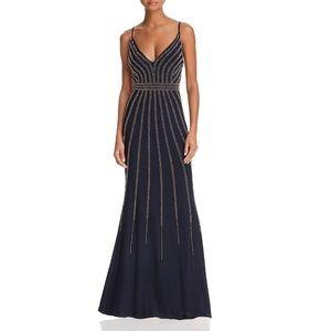 AQUA Dresses - Avery G LONG V NECK W BEADING GOWN